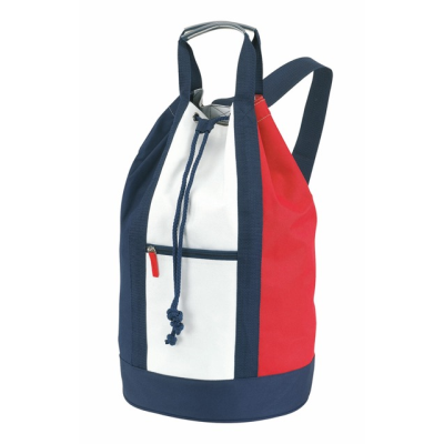 Picture of MARINA MATCHSACK BACKPACK RUCKSACK in White Blue & Red