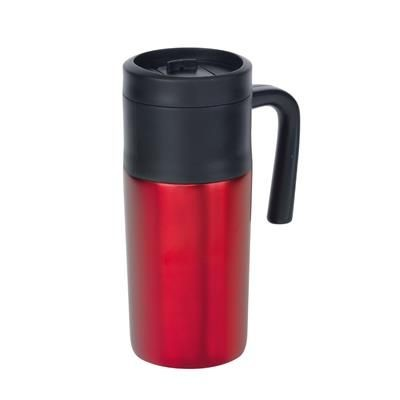 Picture of GRAB & GO DOUBLE-WALLED FLASK in Red
