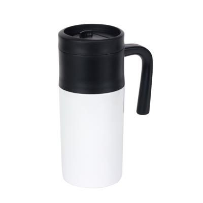 Picture of GRAB & GO DOUBLE-WALLED FLASK in White