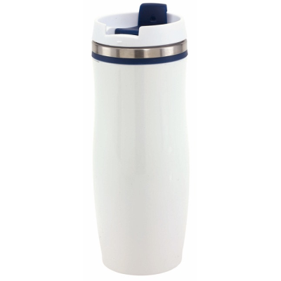 Picture of CREMA DOUBLE-WALLED TRAVEL MUG in Blue