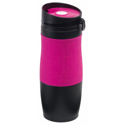 Picture of GOL DOUBLE-WALLED FLASK in Black - Magenta