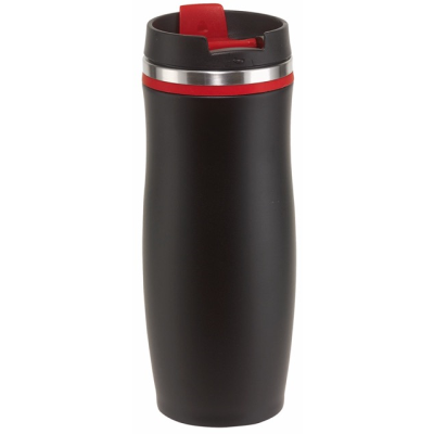 Picture of DARK CREMA DOUBLE-WALLED TRAVEL MUG in Red