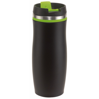 Picture of DARK CREMA DOUBLE-WALLED TRAVEL MUG in Green