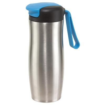 Picture of TAKE IT DOUBLE-WALLED TRAVEL MUG in Blue