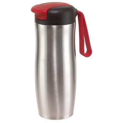 Picture of TAKE IT DOUBLE-WALLED TRAVEL MUG in Red