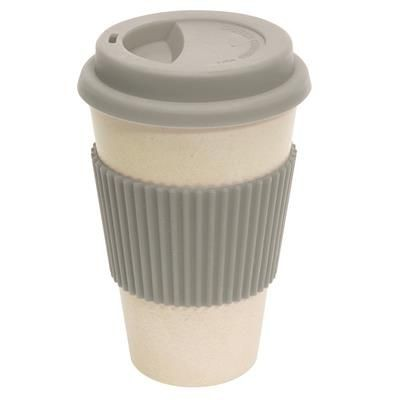 Picture of BAMBOO ECO COFFEE TRAVEL MUG in Grey