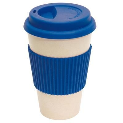Picture of BAMBOO ECO COFFEE TRAVEL MUG in Blue