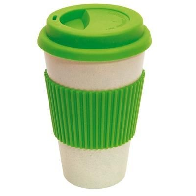 Picture of BAMBOO ECO COFFEE TRAVEL MUG in Apple Green