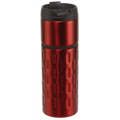 Picture of EXCLUSIVE LIQUID DOUBLE-WALLED TRAVEL MUG in Red