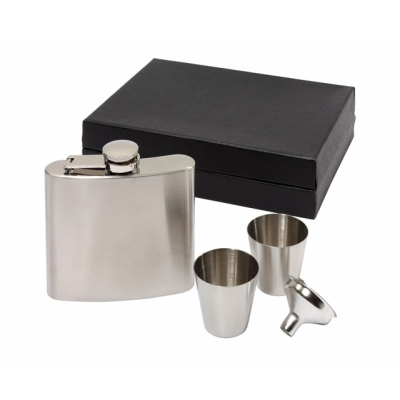 Picture of COWBOY HIP FLASK SET in Silver