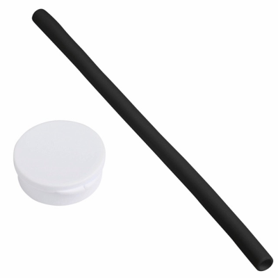 Picture of PRACTICALLY SILICON STRAW in Black & White