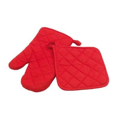 Picture of SECURE OVEN GLOVES SET in Red