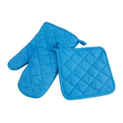Picture of SECURE OVEN GLOVES SET in Blue