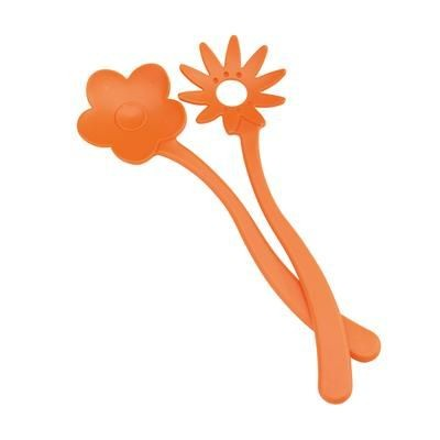 Picture of FLOWER SALAD SERVERS in Orange