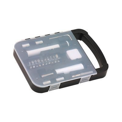 Picture of TOOL BOX MAGIC TOOL with Integrated Handle Includes Torch Measuring Tape 1 M Hex Key Screwdriver