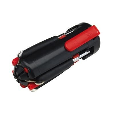 Picture of 6-IN-1 SCREWDRIVER SET in Black & Red with LED Lights