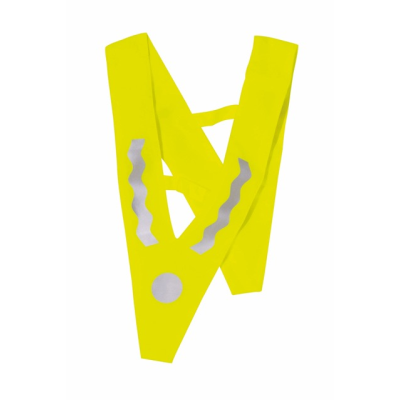 Picture of CHILDRENS SAFETY TRIANGULAR TABARD in Neon Fluorescent Yellow