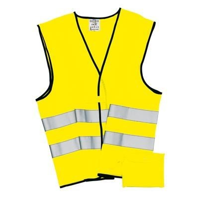 Picture of HIGH VISIBILITY TABARD SECURITY VEST in Neon Fluorescent Safety Yellow