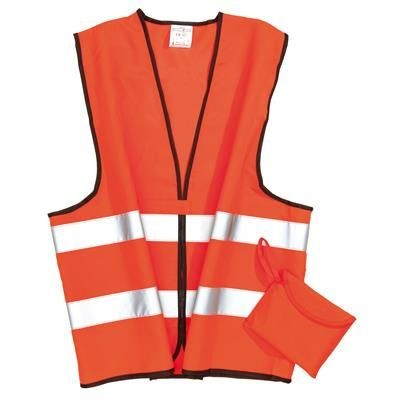 Picture of ADULT SECURITY WARNING TABARD VEST in Neon Fluorescent Orange