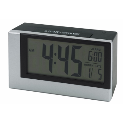 Picture of SMOULDER DIGITAL TABLE CLOCK in Silver