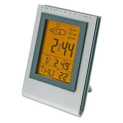 Picture of MULTIFUNCTION WEATHER STATION CLOCK in Silver