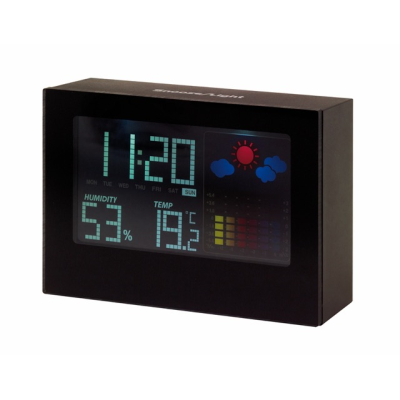 Picture of COLOUR LCD WEATHER STATION CLOCK in Black