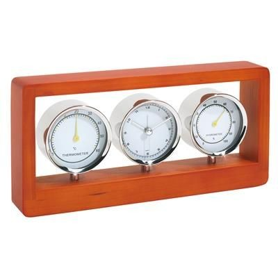 Picture of GENUINE WOOD WEATHER STATION