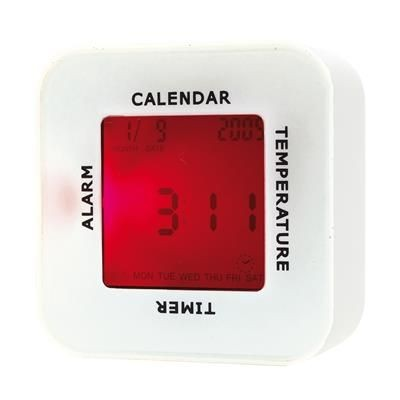 Picture of 4-IN-1 DESK ALARM CLOCK & MOOD LIGHT in White