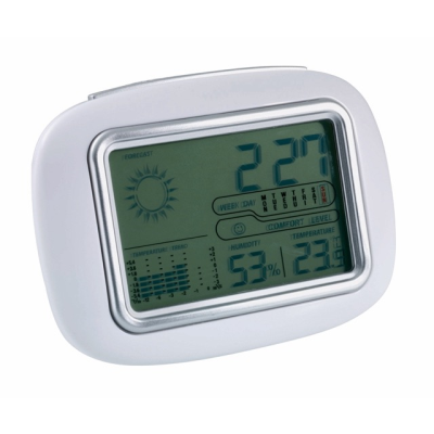 Picture of CALOR WEATHER STATION DESK CLOCK in White