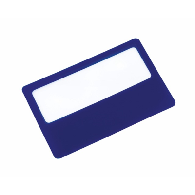 Picture of SUPPORT CREDIT CARD MAGNIFIER GLASS in Blue