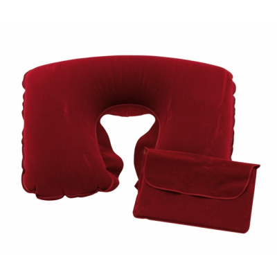 Picture of INFLATABLE TRAVEL PILLOW in Red