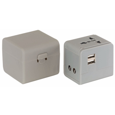 Picture of TRAVELMATE TRAVEL ADAPTER in Grey