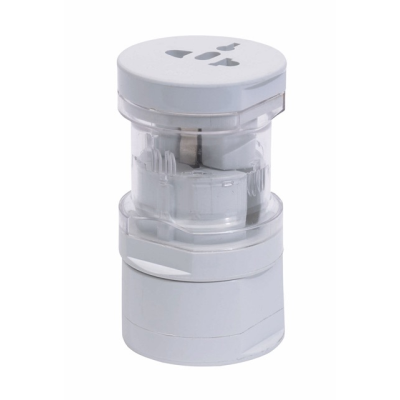 Picture of GLOBAL TRAVEL PLUG ADAPTOR in White