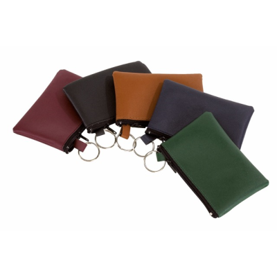 Picture of HOME ZIP KEYRING POUCH PURSE in Brown