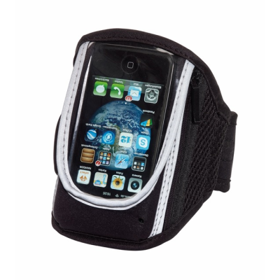 Picture of SMART RUN MOBILE PHONE ARM WALLET in Black Neoprene