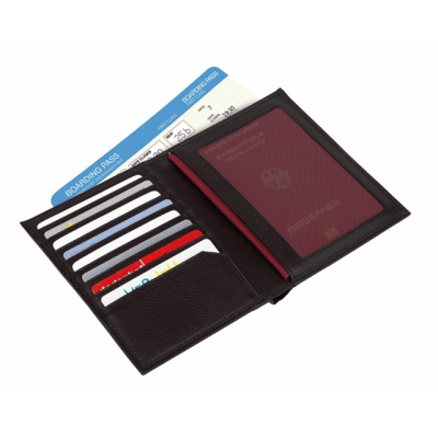 Picture of VACATION PASSPORT WALLET in Black Leather