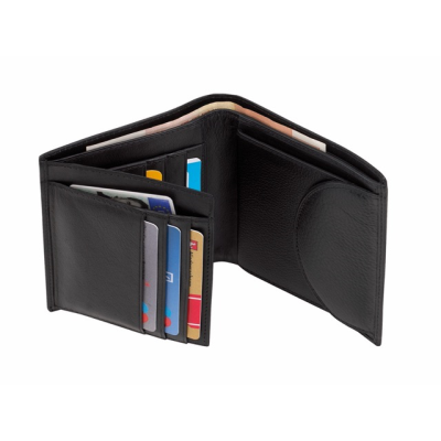 Picture of DOW JONES BILLFOLD WALLET in Black Leather
