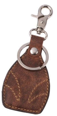 Picture of WILDERNESS GENUINE LEATHER KEYRING in Brown