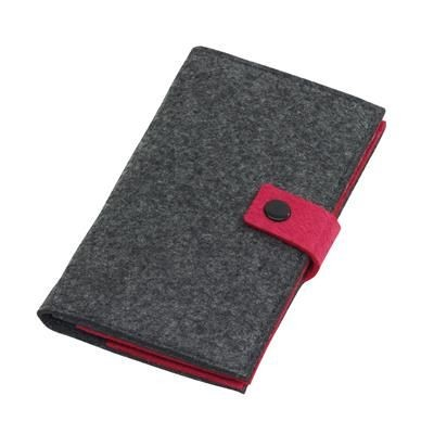 Picture of EDITION FELT WALLET in Grey & Pink