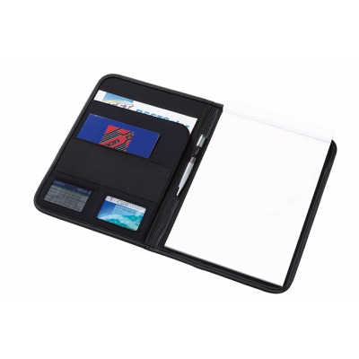 Picture of AVANTI CONFERENCE FOLDER in Blue & Black Microfibre