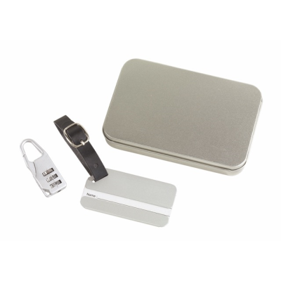 Picture of FAR AWAY LUGGAGE TAG SET in Silver