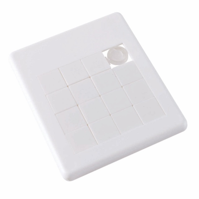 Picture of SLIDING PUZZLE TRAY SQUARE in White