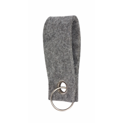 Picture of FELT KEYRING in Grey