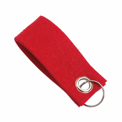 Picture of FELT KEYRING in Red