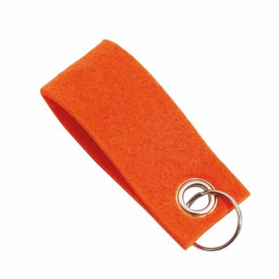 Picture of FELT KEYRING in Orange