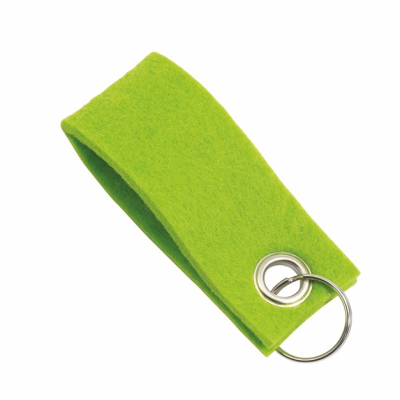 Picture of FELT KEYRING in Green