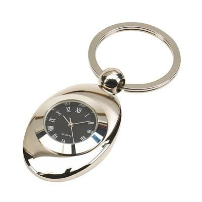 TACK METAL KEYRING CLOCK in Silver