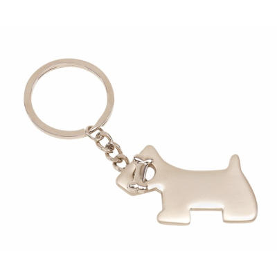 Picture of DOG KEYRING in Silver Metal