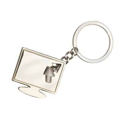 Picture of COMPUTER MONITOR & POINTER METAL KEYRING in Silver