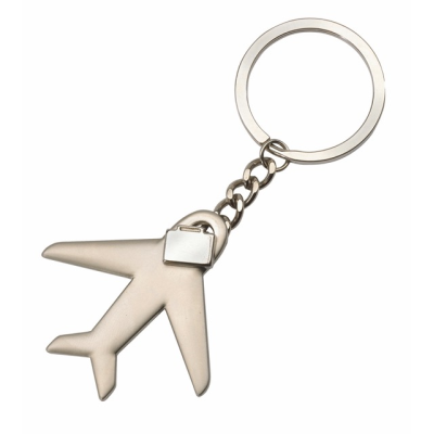 Picture of AEROPLANE SHAPE METAL KEYRING in Silver